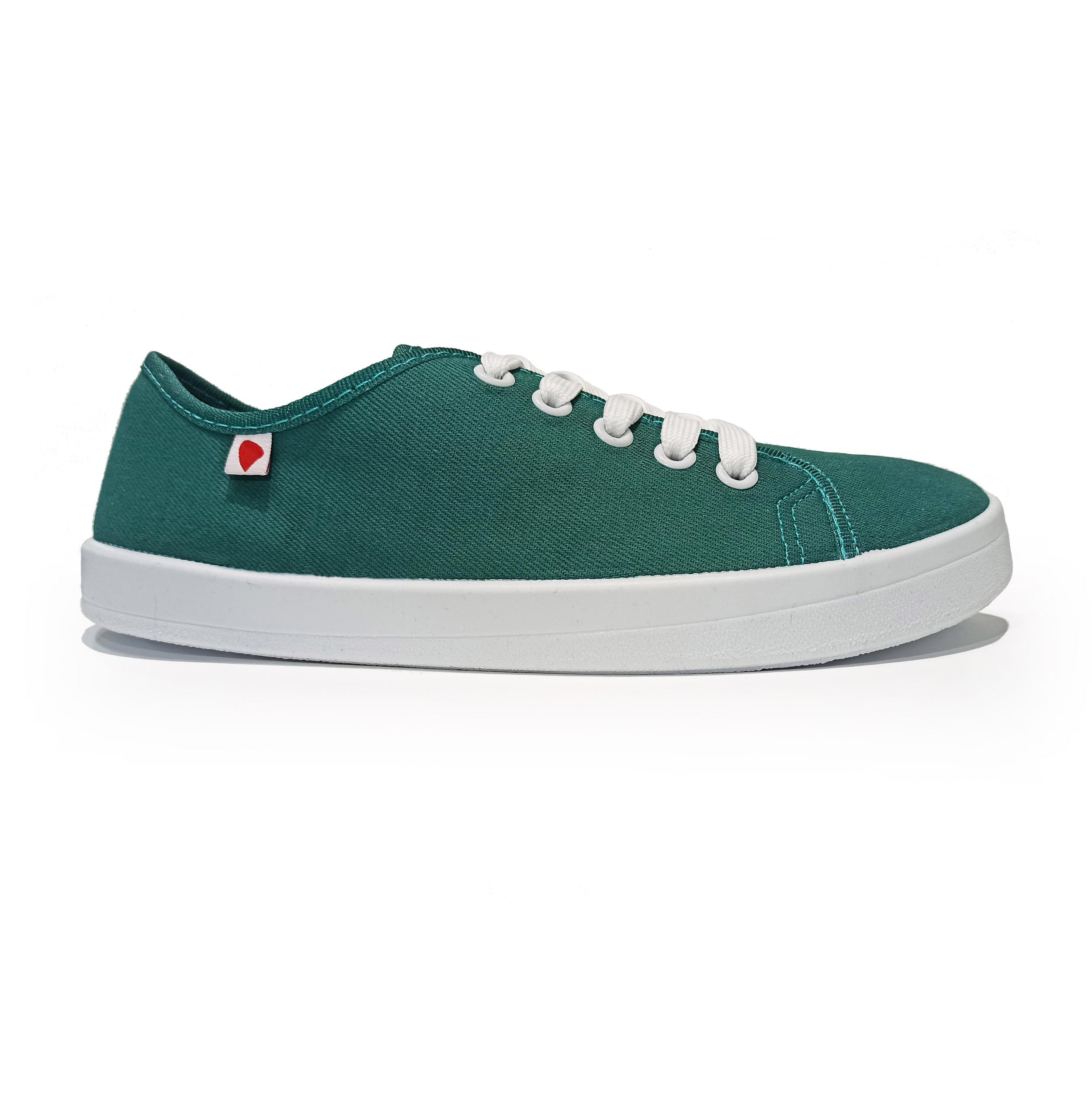 basket anatomic all in verte à semelle blanche sur la boutique liberty pieds