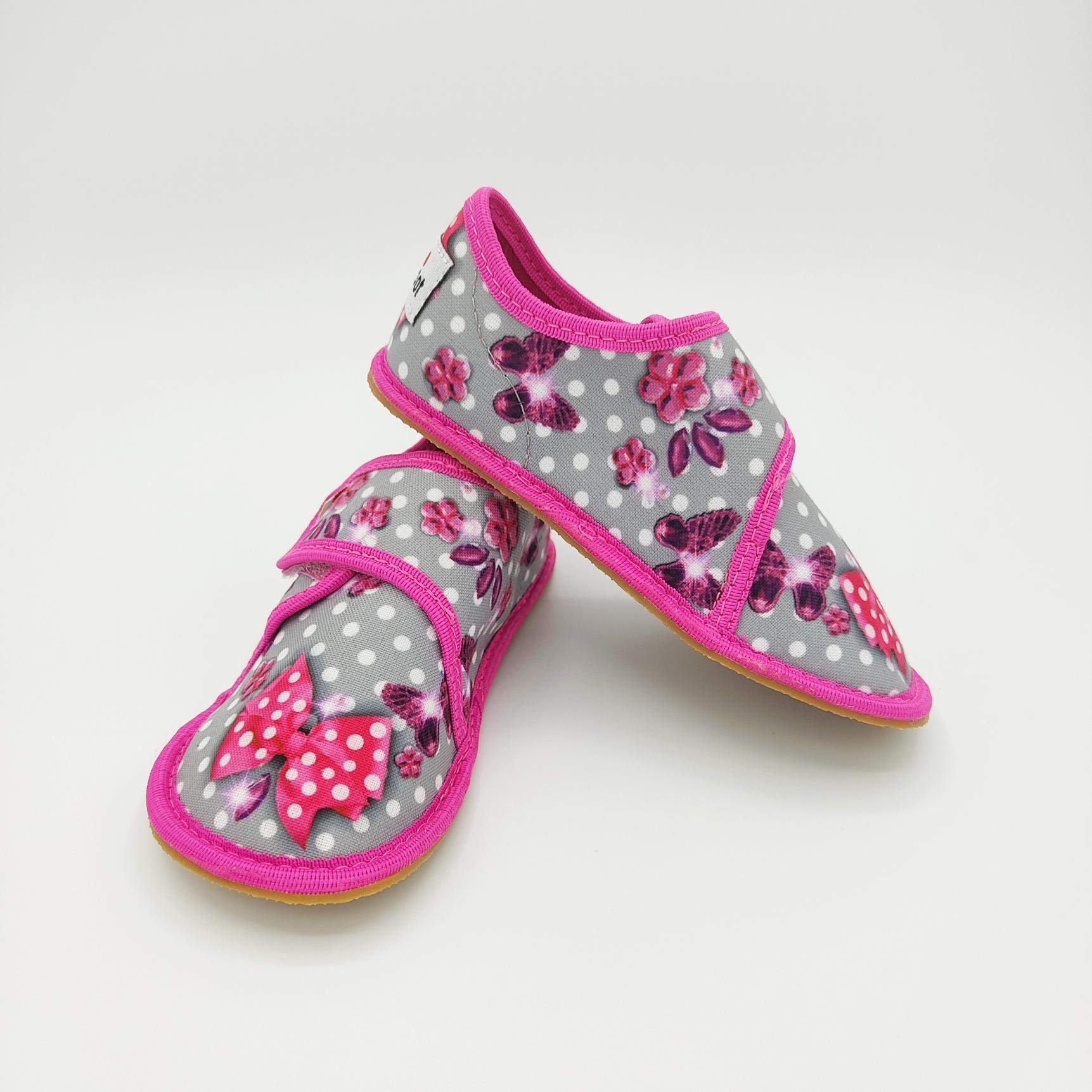 Chaussons EF barefoot en tissu - 394 Butterfly