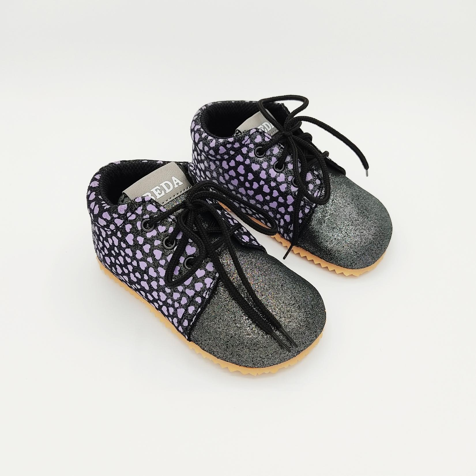 Beda - Chaussures 1ers pas - Dark violette