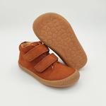 chaussures koel4kids don bio nubuck cognac pour pieds moyens sur le boutique liberty pieds-4