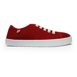 baskets ALL IN rouge blanc profil