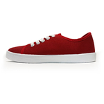 baskets ALL IN rouge blanc profil 2