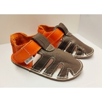 Sandale p'tit scratch de Tomar Création marron et orange sur la boutique Liberty Pieds 3