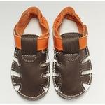 Sandale ptit scratch de Tomar Création marron et orange sur la boutique Liberty Pieds 2
