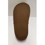Semelle des sandales ptit scratch de Tomar Création marron et orange sur la boutique Liberty Pieds