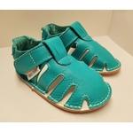 Sandale p'tit scratch de Tomar Création bleu turquoise sur la boutique Liberty Pieds 3