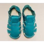 Sandale ptit scratch de Tomar Création bleu turquoise sur la boutique Liberty Pieds 5