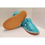 Sandale ptit scratch de Tomar Création bleu turquoise sur la boutique Liberty Pieds 8