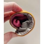 Sandales ptit scratch de Tomar création grise et fuchsia sur la boutique Liberty Pieds 6