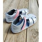 sandales EF barefoot argenté sur la boutique liberty pieds (6)