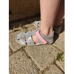 sandales EF barefoot argenté sur la boutique liberty pieds (4)