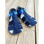 sandales EF barefoot bleu marine sur la boutique liberty pieds (8)