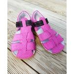 Sandales ef barefoot rose à pois sur la boutique liberty pieds