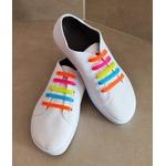 lacet élastique street rainbow sur la boutique liberty pieds