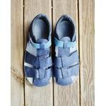 sandales ef barefoot grise sur le boutique liberty pieds