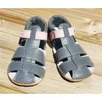 sandales EF barefoot gris anthracite et rose sur la boutique liberty pieds (11)