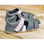 sandales EF barefoot gris anthracite et rose sur la boutique liberty pieds (14)