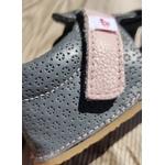 coloris des sandales EF barefoot gris anthracite et rose sur la boutique liberty pieds