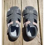 sandales EF barefoot gris anthracite et rose sur la boutique liberty pieds (6)