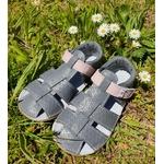 sandales EF barefoot gris anthracite et rose sur la boutique liberty pieds (3)
