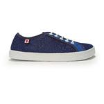 baskets ALL IN bicolore bleues AM12 profil droit sur la boutique Liberty Pieds