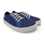 baskets ALL IN bicolore bleues AM12 face sur la boutique Liberty Pieds