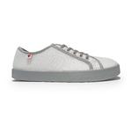 baskets ALL IN bicolore blanches et grises AM04 profil droit sur la boutique Liberty Pieds