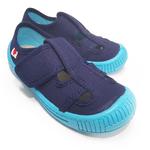 Sandales Anatomic enfants bleu marine et semelle bleu ciel sur la boutique Liberty Pieds (1)