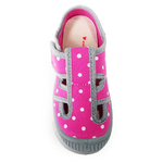 Sandales Anatomic enfants rose à pois et semelle grise sur la boutique Liberty Pieds (2)