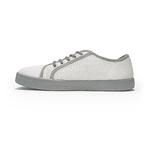 baskets ALL IN bicolore blanches et grises AM04 profil gauche sur la boutique Liberty Pieds