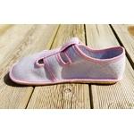 chaussons anatomic gris à pois rose sur la boutique liberty pieds (9)