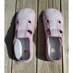 chaussons anatomic gris à pois rose sur la boutique liberty pieds (8)