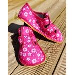 chaussons Anatomic rose fuchsia à fleur sur la boutique Liberty Pieds (4)