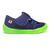 Sandales Anatomic enfants bleu marine et semelle vert pomme sur la boutique Liberty Pieds