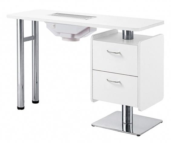 Table manucure en bois blanc avec aspiration hale mobilier esth tique professionnel tables - Table onglerie avec aspiration ...