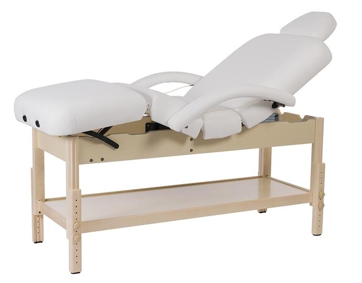 table de massage fixe en bois naturel r glable en hauteur brachi naturel mobilier esth tique