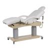 Table de massage haut de gamme, 4 moteurs avec base en bois clair, SUPRA