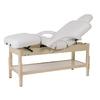 Table de massage fixe en bois naturel réglable en hauteur, BRACHI Naturel