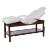 Table de massage fixe en bois couleur Wengué réglable en hauteur, BRACHI Wengué