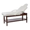 Table de massage fixe en bois couleur wengué, réglable en hauteur, LONG Wengué