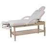 Table de massage fixe en bois naturel, réglable en hauteur, LONG Naturel