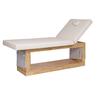 Table de massage fixe en bois naturel réglable en hauteur, OCCI