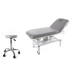 OFFRE SPECIALE : Table de massage électrique 2 panneaux  avec tabouret hydraulique