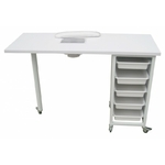 Table manucure avec tiroirs de rangement et aspiration, ULNAR