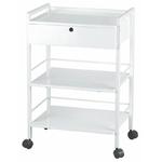 Guéridon, un tiroir, 2 étagères, EASY
