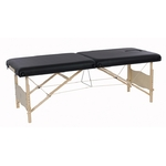 Table de massage pliante en bois ultra-confort, PLENIC BLACK