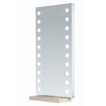 Miroir mural 130 x 70 cm avec éclairage 20 LED