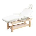 Table de massage fixe en bois naturel réglable en hauteur, UNUK