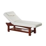 Table de massage fixe en bois réglable en hauteur, SEBIK
