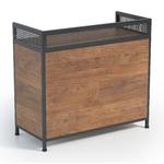 Comptoir bois et métal , 6 étagères et un tiroir à clé, style industriel